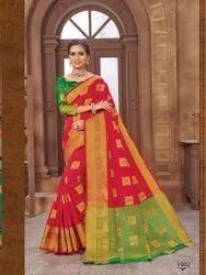 Red Color Designer Heavy Silk Saree