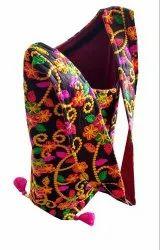 Indian Long Shoulder Bag - Cross Body Bag- Kutch Embroidered Side Bag