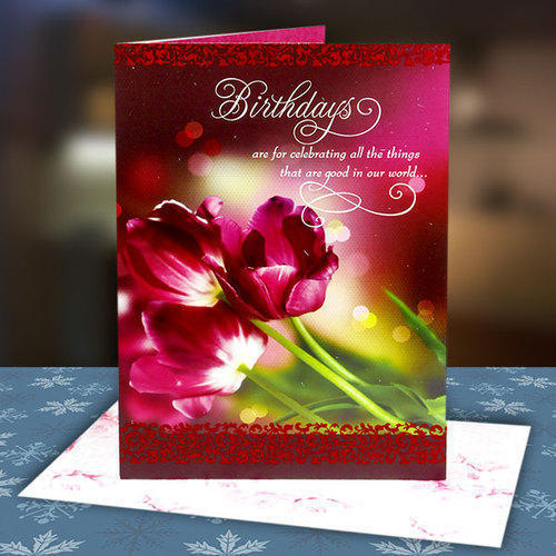 multicolor rectangular birthday greeting card size 8 6 inch rs