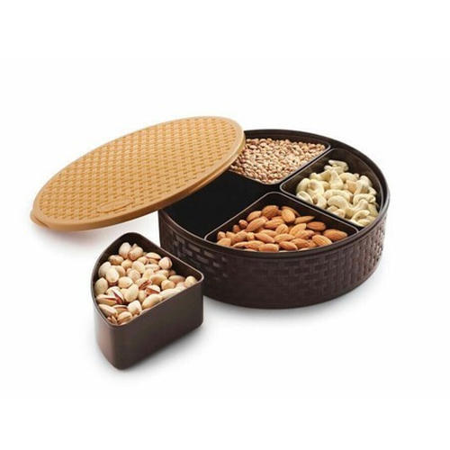 Chocolate Brown Plastic And Dry Fruit Box