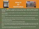 DRDO  UV SANITISATION CABINET 190Ltrs & 42 Ltrs