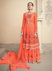 Viscose Upada New Designer Sharara Suit