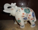 Elephant Marble with Inlay Art