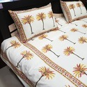 Hand Block Printed bedding set