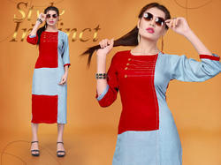heavy rayon ladies kurti