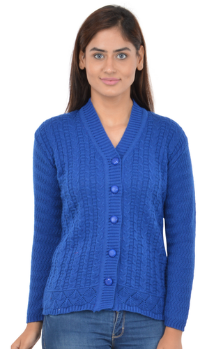be4d22483c Blue Woolen Woman Sweater By Broche at Rs 820 /piece | Ladies Woolen ...