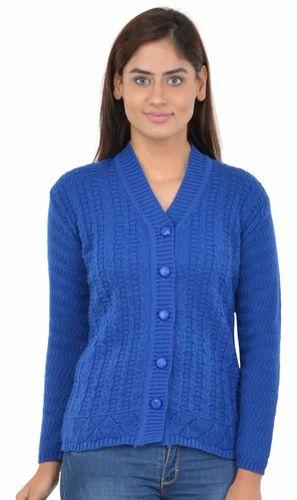 Blue Woolen Woman Sweater By Broche at Rs 820 /piece | Ladies Ke ...