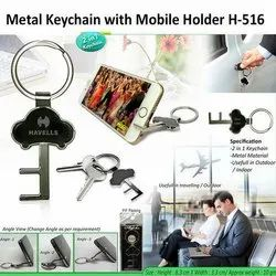 Metal Keychain with Mobile Holder H-516