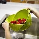 Plastic Vegetable Fruit Basket Rice Wash Sieve Washing