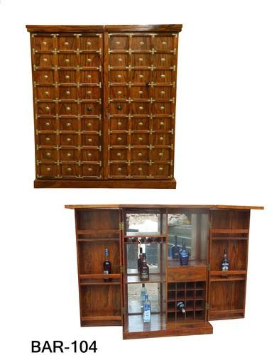 Antique BAR 104 Wooden Bar Cabinet