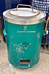 Gulshan Tandoor Natural Wholes S Steel Top Round Domestic Tandoors, For Restaurant, Capacity: 5-7 Roti