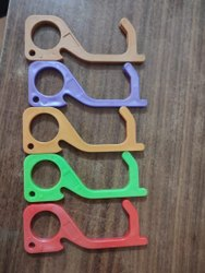 Rectangular Plastic Covid Safety Key ( Your Brand Logo ), Packaging Type: Polybag, Size: 104*37*4 Mm