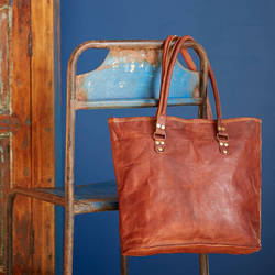 Leather Tote Bag, Shopping Bag, Ladies Leather Bag, Handbag, Shoulder Bag, Women's Bag