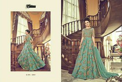 Indo Western Bridal Gown Heavy Designer Bridal Gowns, Size: Free Size