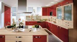 MDF, Glass Chilliez G Shaped Modular Kitchen
