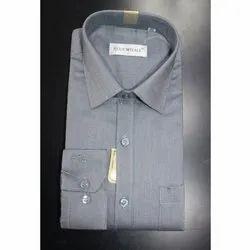 Regular Wear Collar Neck Plain Cotton Shirt, Machine wash