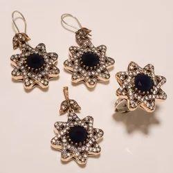Turkish Stylish Ring Pendant Set