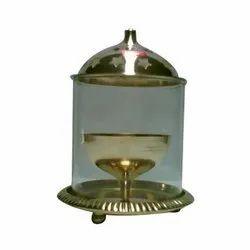 Brass Glass Pooja Diya