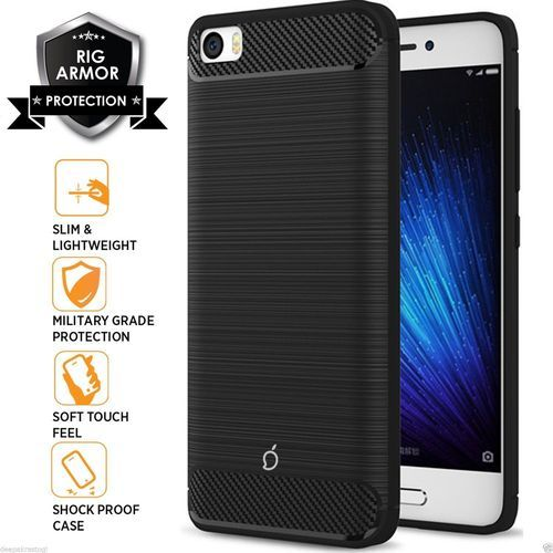 purchase cheap 75b45 f7d79 Rugged Armor Carbon Fiber Design Back Cover For Xiaomi Mi5