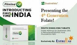 5-Methyltetrahydrofolic Acid 400 MCG As Quatrefolic (Mouth Dissolving Tablets)
