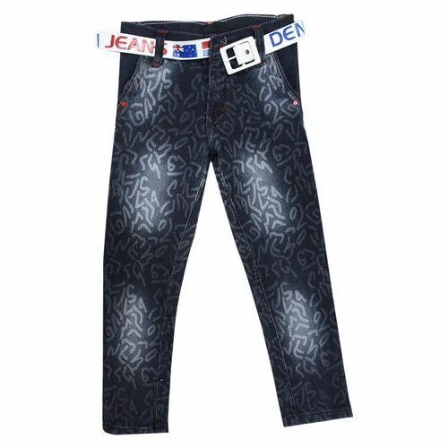 H.N Kids Faded Party Wear Denim Jeans