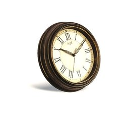 Wooden Wall Clock, For Home, Office, Size: 240x240x45 Mm