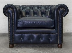 Single Seater Chesterfield Leather Sofa, Leather Couches
