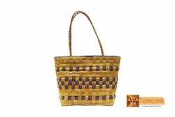 Ceres Woven Natural Screwpine Leaf Ladies Handbag-Design 1