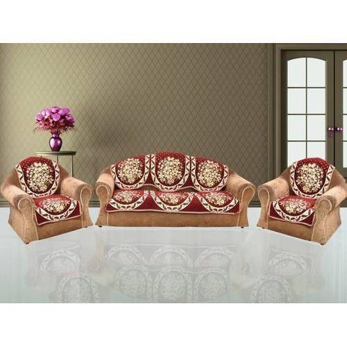 Abstract Velvet Sofa Cover