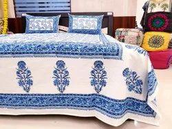 Cotton Handmade Hand Block Printed Bed Sheet By Meera Handicrafts