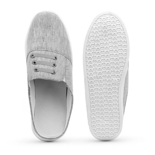 Casual Womens Grey Loafer Shoes, Size: 4-9