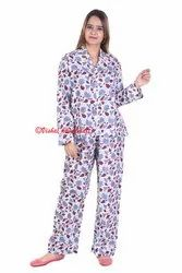 Hand Block Print Ladies Pyjama Set Night Wear Suit