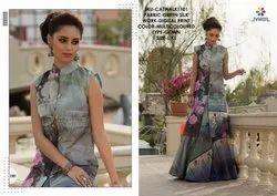 Women Party Wear Designer Gown, Size: L, XL
