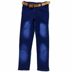 Denim Casual Wear Kids Regular Fit Faded Jeans