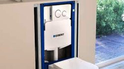 White Dual Flush Concealed Cistern- Geberit for Toilet