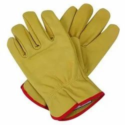Unisex Leather Safety Gloves, Size: M-XL, Finger Type: Full Fingered