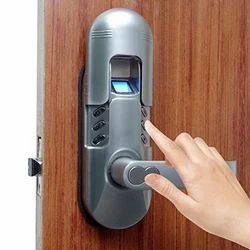 Lever Biometric Door Lock, Chrome