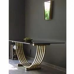 Living Room Stainless Steel Glass Table