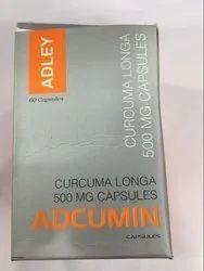 Adcumin Curcuma Longa 500mg Capsules, Packaging size: 1 X 30, Prescription