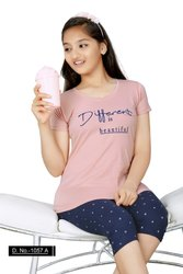 Cotton Regular Wear KuuKee 1057 Kids Capri Set Girls, Age Group: 4-16 Year