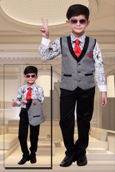 Cotton Party Wear Boys Fancy Baba Suit, 2-10, Age: 3-10 Years