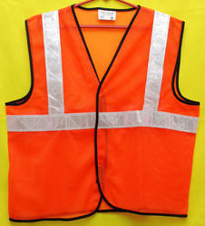 Reflective Vizwear Jackets / Vests 2 Orange Front Opening In Mesh Fabric (v-9)