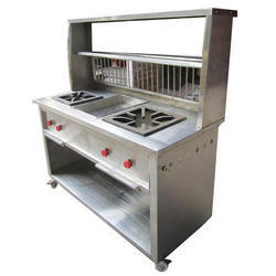Stainless Steel Chole Bhature Counter