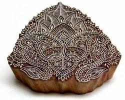 Printing & Graphic Arts Brass Block Pattern Precise Dear Decorative Wooden Printing Blocks Stamp Hand Textile Type, Cuts & Printing Blocks