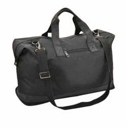 Leather Black Waterproof Folding Travel Bag