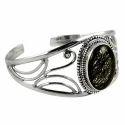 Black Rutile 925 Sterling Silver Bangle