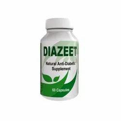 DIAZEET Natural Anti Diabetic Supplement, Packaging Size: 60 Capsule