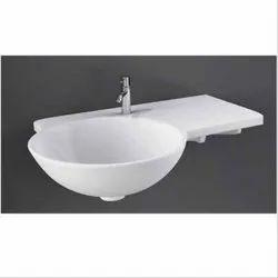 White Ceramic Cloak Room Wash Basin