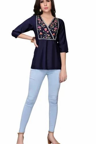 8d5f4240d06b7 Party wear embroidery rayon tops piece epsilon sales corp jpg 333x500 Rayon  tops