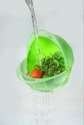 Plastic Vegetable Fruit Rice Bowl & Strainer Cum Basket